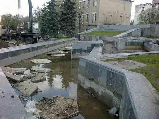 Павлоград, без торжеств, похоронит свой неудачный фонтан