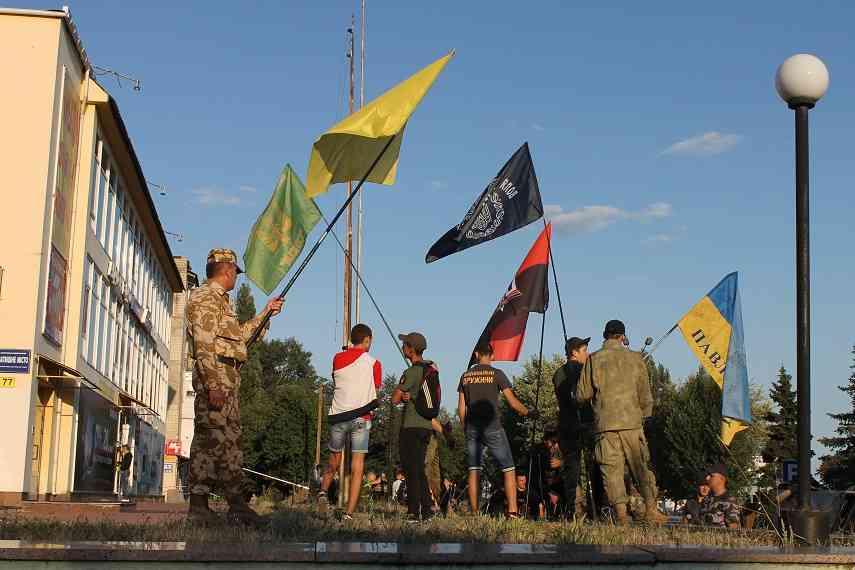 Марш патриотов в Павлограде состоялся