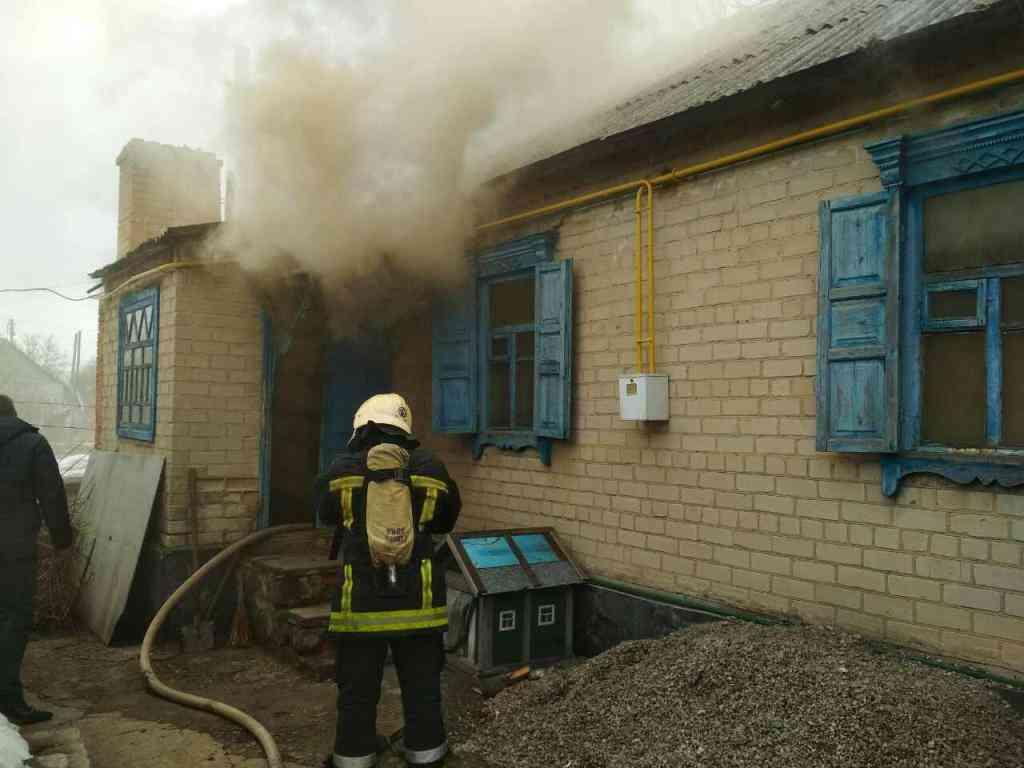По ул. Крылова, в Павлограде, горел частный дом