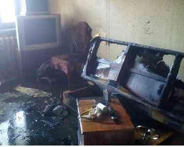 В Павлограде, во время пожара, погиб инвалид