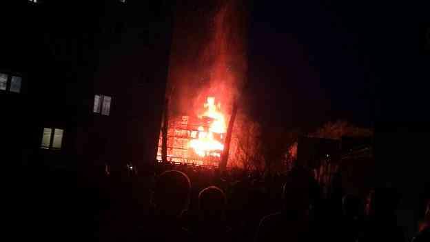 Заброшенные здания просто так не горят