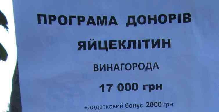 Павлоградкам предлагают продать свои яйцеклетки за 19 тыс. гривен