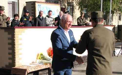 Військослужбовці прийняли поздоровлення від міського голови Павлограда