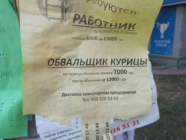 Павлограду срочно нужны рабочие руки!