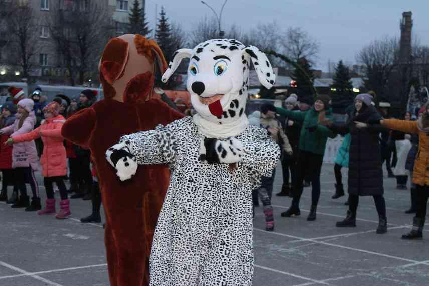 Новогодними огоньками засверкала главная елка Павлограда