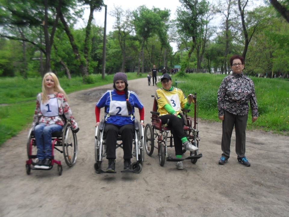 Инвалиды Павлограда свои спортивные достижения посвятили Дню Победы