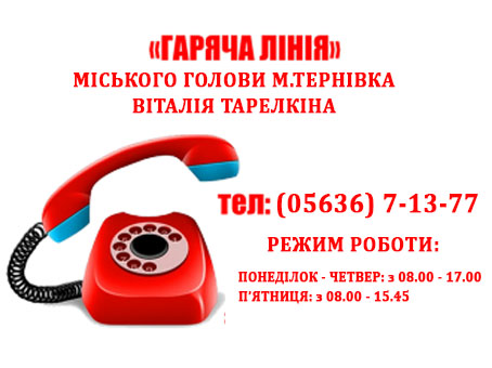 О недостатках в работе органов местного самоуправления терновчане могут вдоволь накричаться по  «горячему»телефону