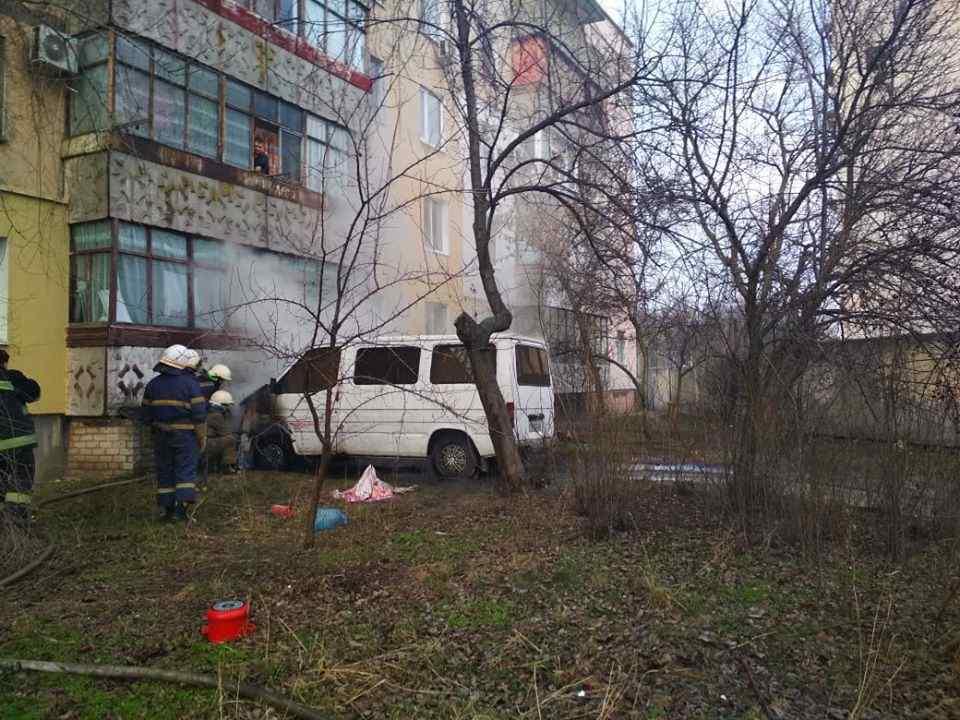 """В Павлограде загорелся """"FORD transit"""", оснащенный газовой установкой"""