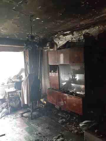 Пожар в квартире на ул Западнодонбасской обошелся без жертв