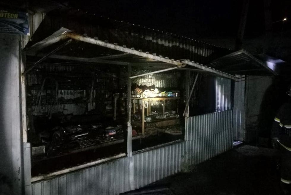 В Павлограде снова сгорел торговый киоск