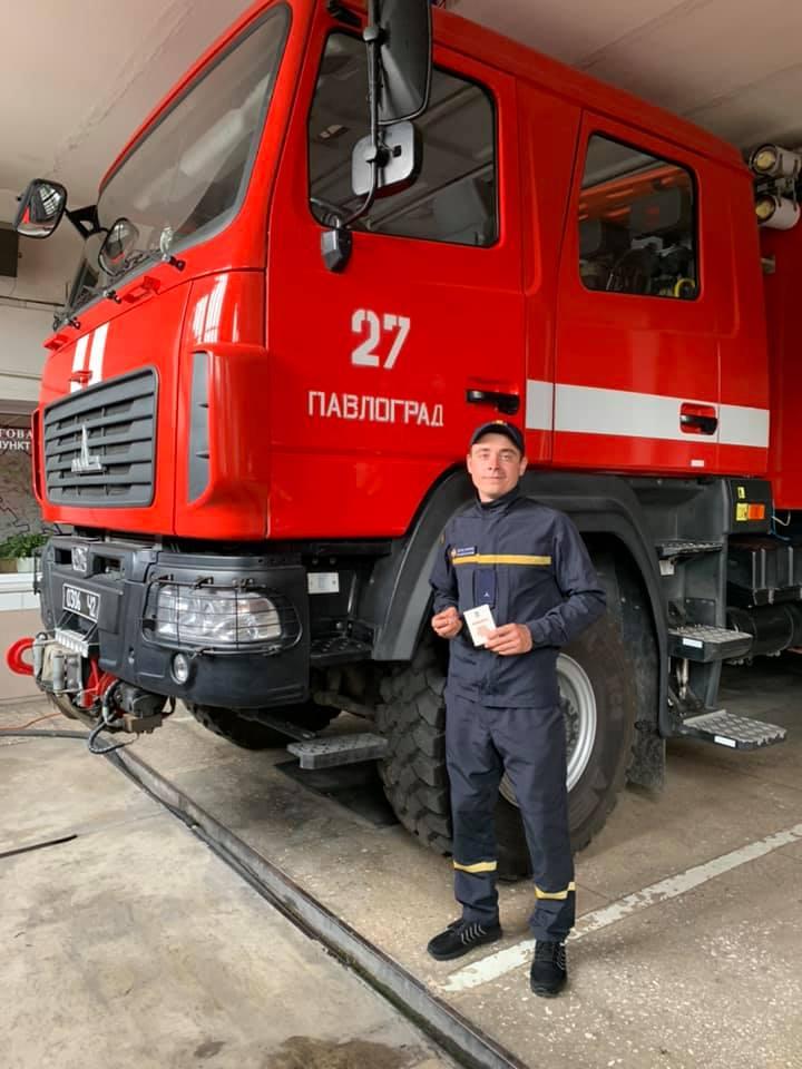 Наградами за мужество, при тушении пожара в Чернобыле, отмечены 9 спасателей Павлограда