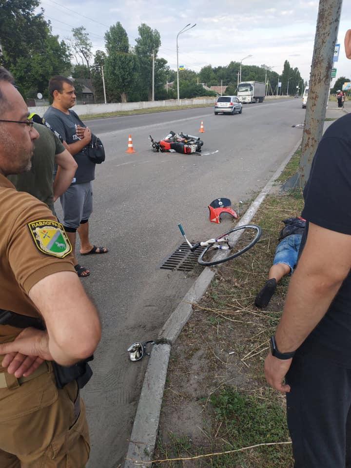 В результате ДТП на ул.Днепровская в Павлограде велосипед развалился пополам