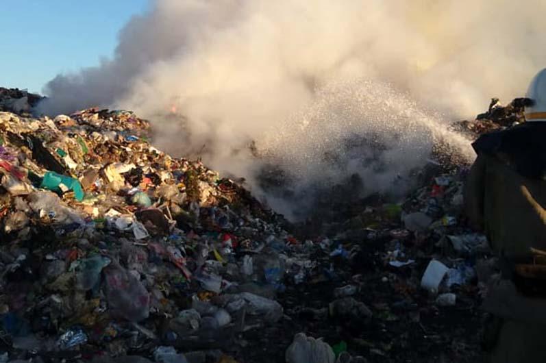 Павлоград задыхался: снова горела свалка