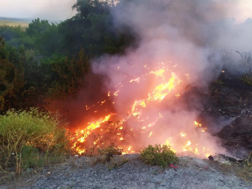 На Днепропетровщине сохраняется чрезвычайная пожарная опасность