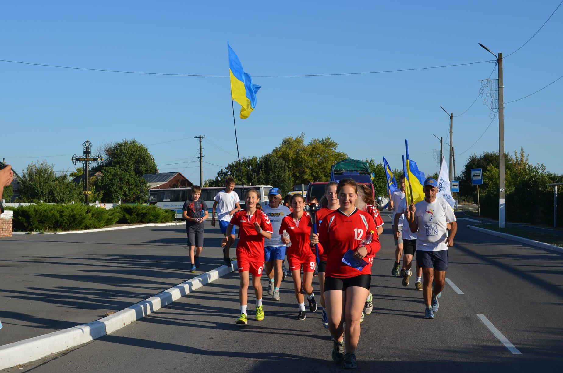 Терновчане, ради мира, пробежали  по городу несколько километров
