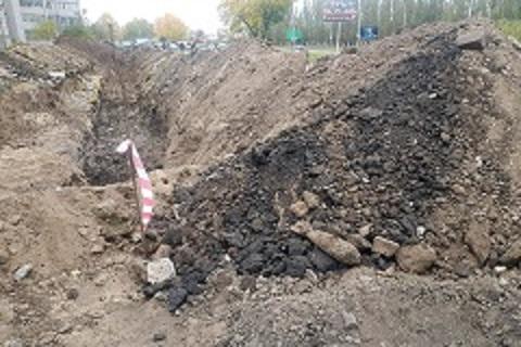 В Павлограде в траншее обнаружена минометная мина, пролежавшая в земле 80 лет