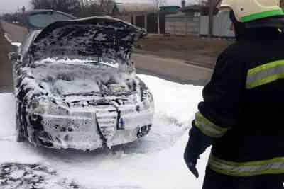 В Павлограде тушили моторный отсек «Alfa romeo»