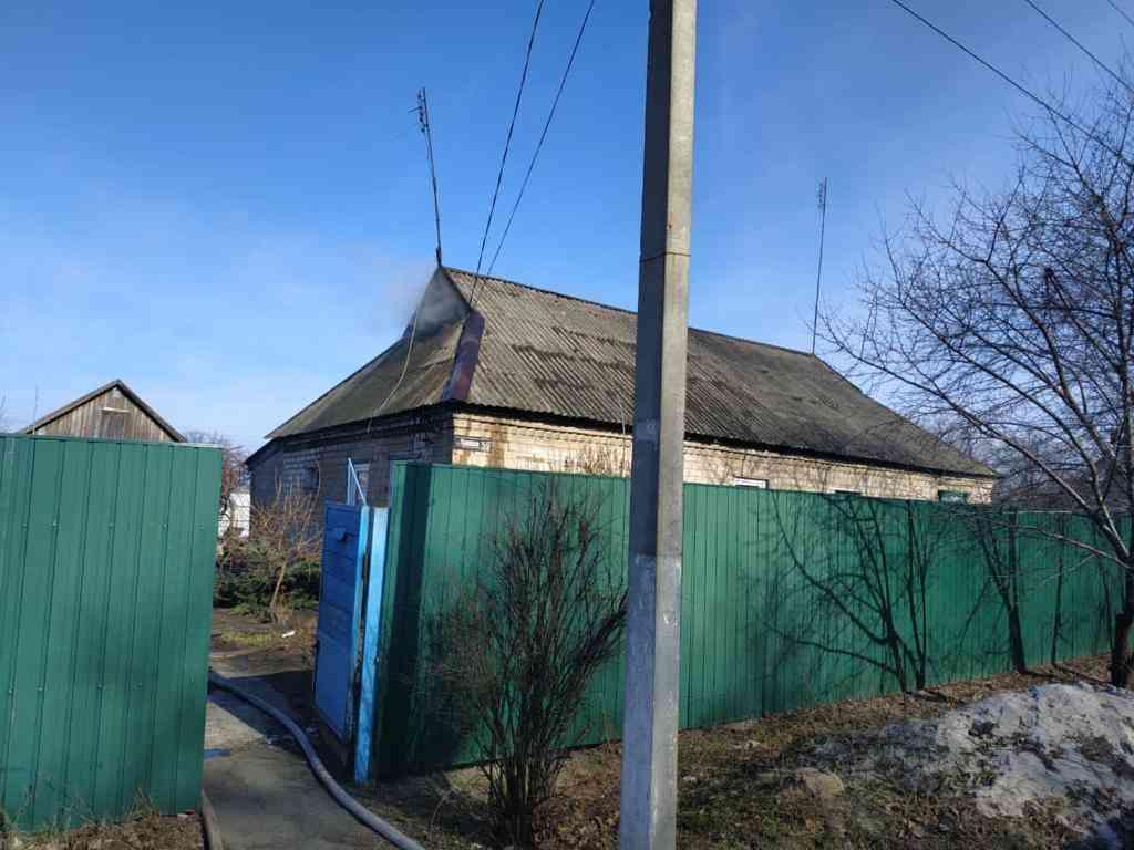 В Богдановке в частном доме сгорела крыша