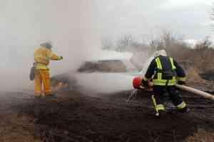 В Юрьевке загорелся автомобиль