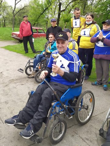 Инвалиды Павлограда посвятили свои спортивные достижения Дню Победы