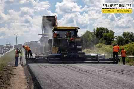 Большое строительство: полным ходом обновляется дорога Днепр - Павлоград