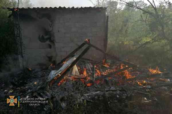 """В Терновке, в садовом обществе """"Ветеран"""", горела постройка"""