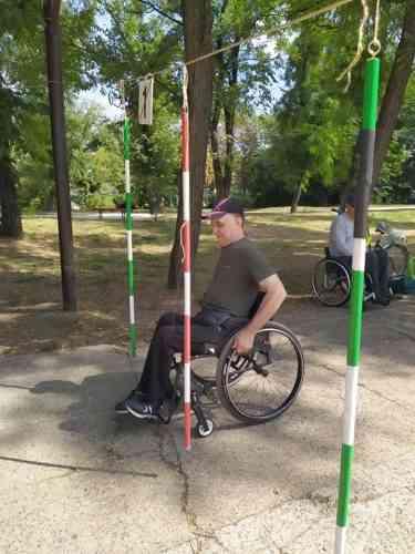 Высший пилотаж вождения показали на Чемпионате Павлограда спортсмены на инвалидных колясках