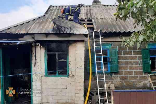 В с. Петровка Николаевской ОТО горел частный дом