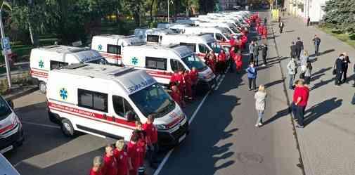 Павлограду ко дню рождения подарили 25 автомобилей «Скорой помощи», чтобы меньше болел